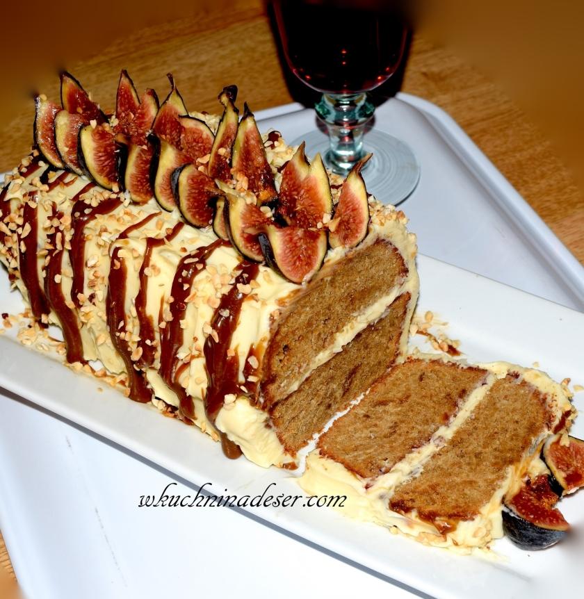 Ciasto orzechowe z figami