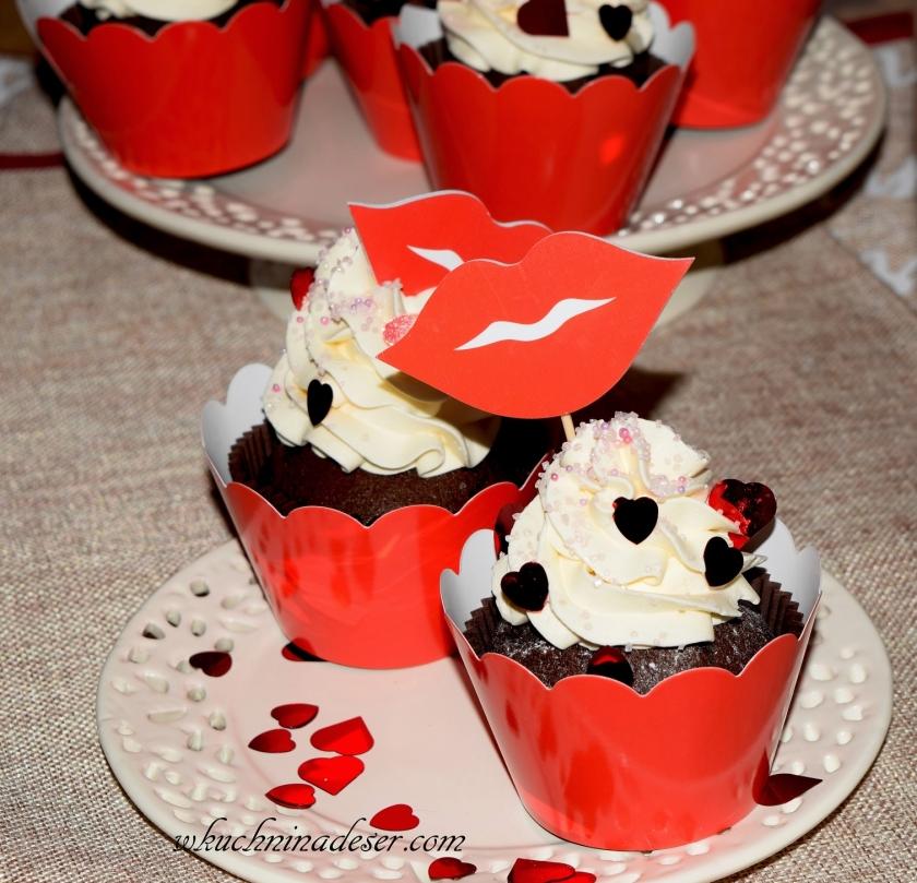 Babeczki czekoladowe na Walentynki
